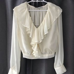Cropped blouse from Mendocino